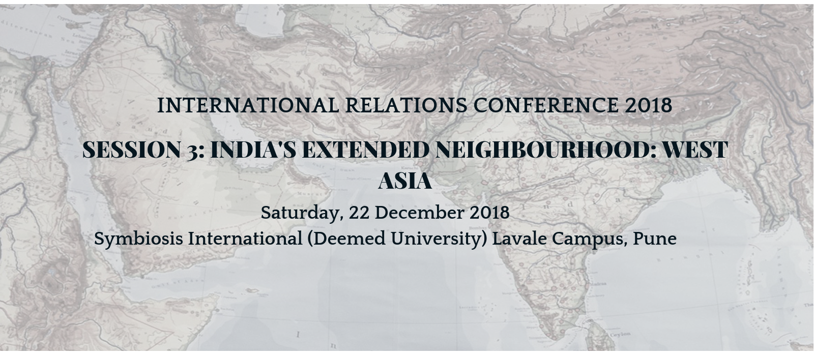 International Relations Conference 2018, Pune - Prospects for India's Ties With EU, Russia And Central Asia