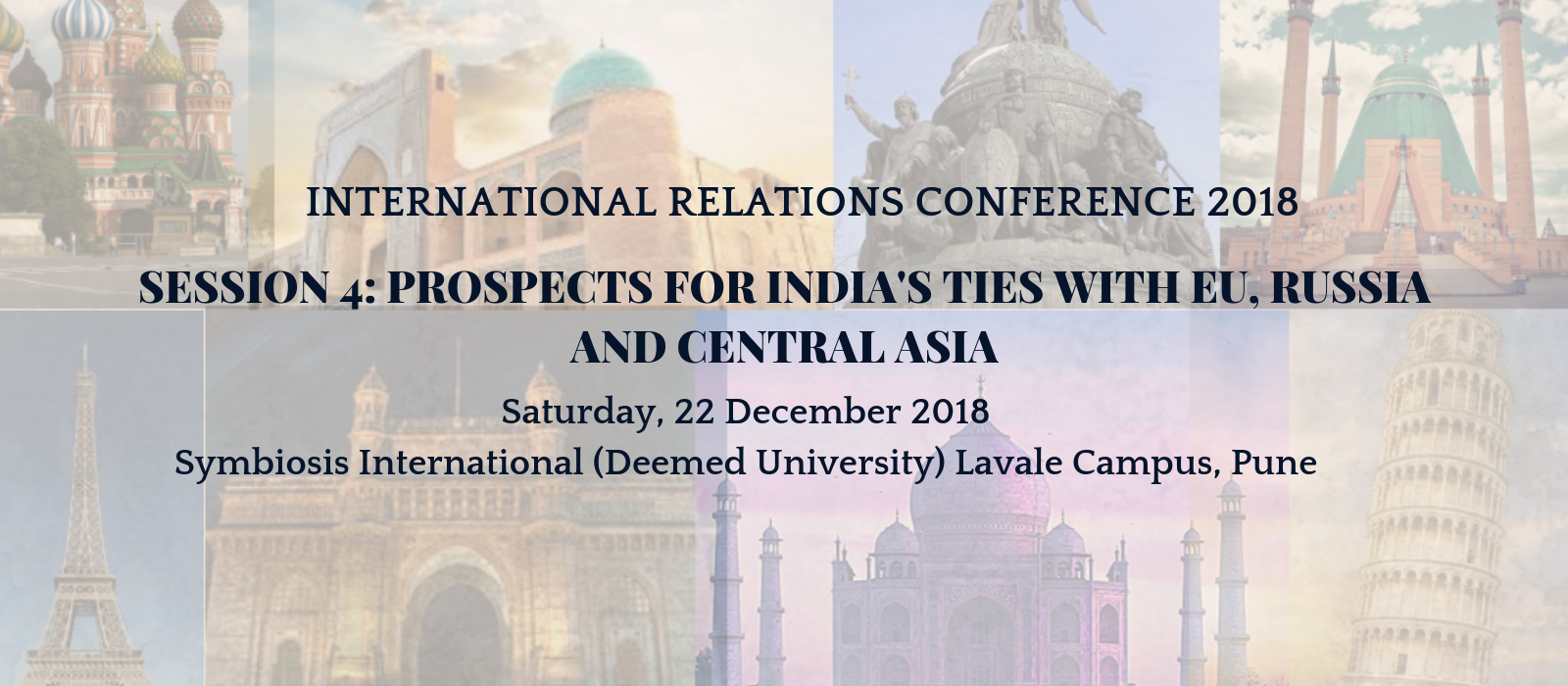 International Relations Conference 2018, Pune - India, South Asia and The Indian Ocean